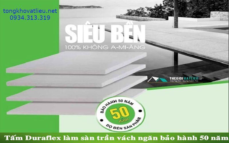 8 3 - Tấm Duraflex Làm Sàn, Trần, Tường, Vách Ngăn Giá Rẻ Bảo Hành 50 Năm