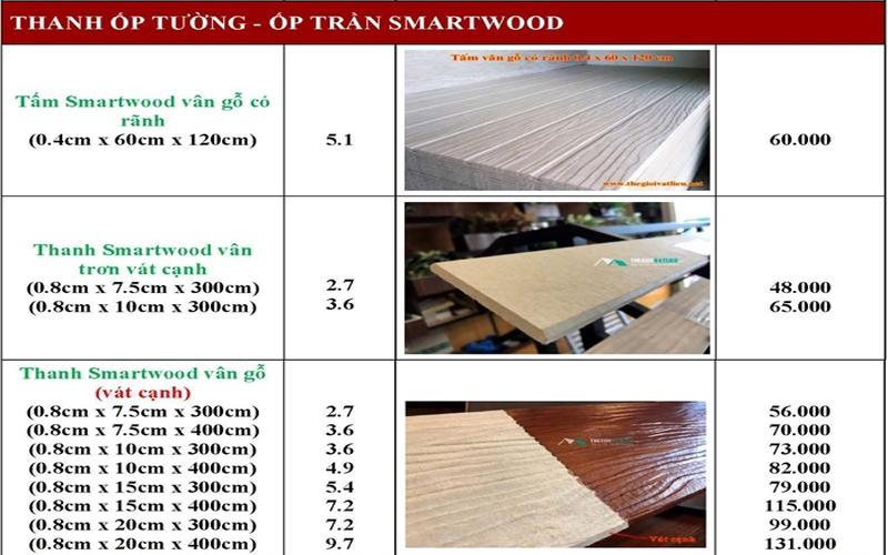 go nhan tao Smartwood SCG 10 - Giá gỗ nhân tạo smartwood SCG ốp tường, trần, lót sàn, sỉ và lẻ rẻ nhất 2021