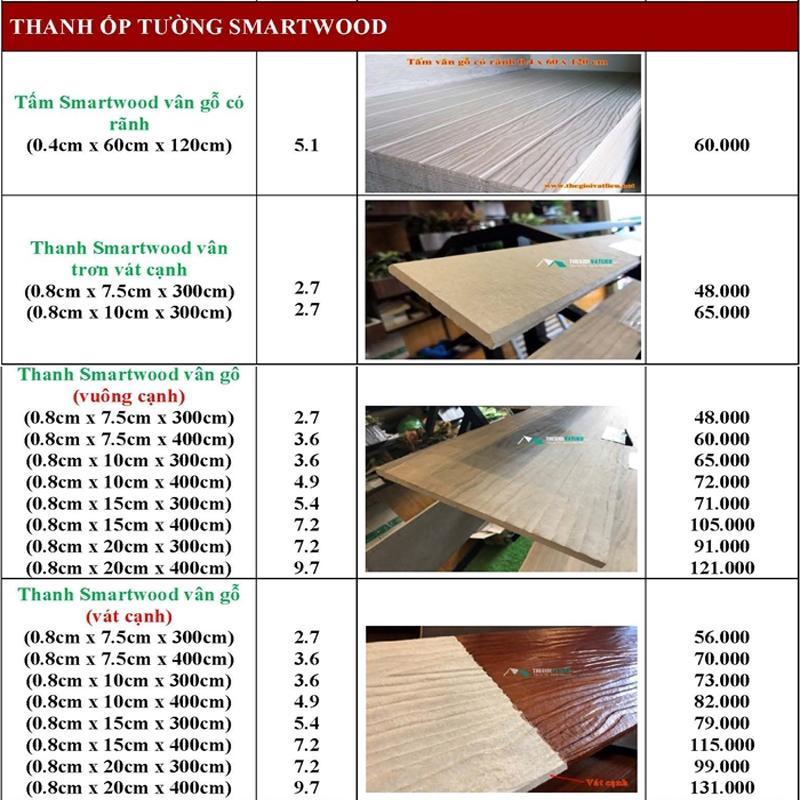 go nhan tao Smartwood SCG 6 - Giá gỗ nhân tạo smartwood SCG ốp tường, trần, lót sàn, sỉ và lẻ rẻ nhất 2021