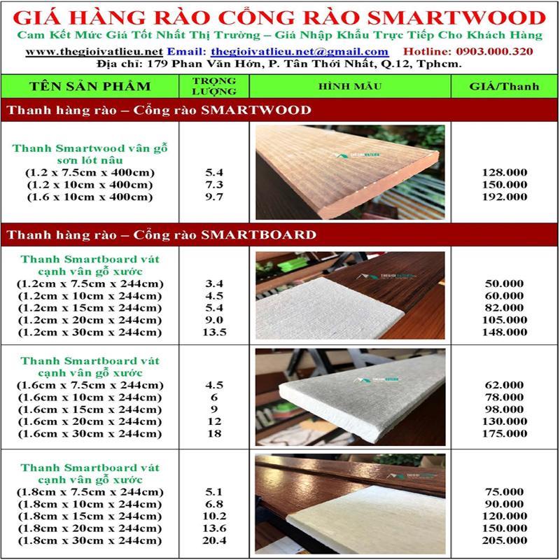 go nhan tao Smartwood SCG 8 - Giá gỗ nhân tạo smartwood SCG ốp tường, trần, lót sàn, sỉ và lẻ rẻ nhất 2021