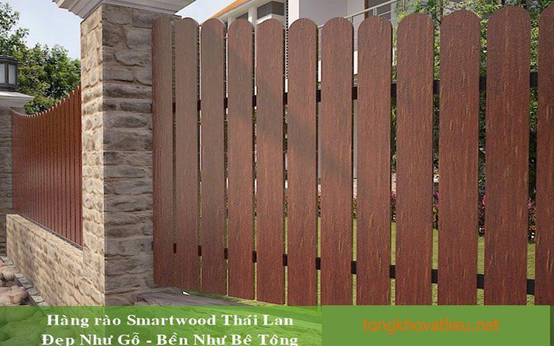 1b - Hàng Rào Gỗ nhân tạo Smartwood thái lan– Bền Mãi Cùng Thời Gian