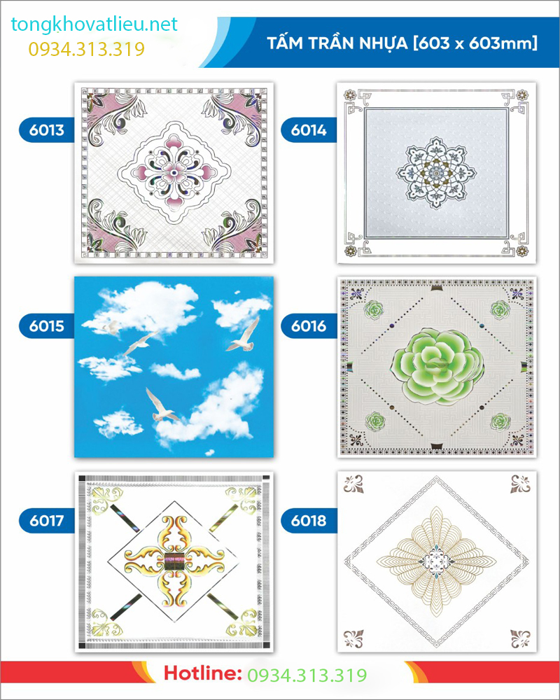 6 - Báo giá tấm trần nhựa PVC | Tấm trần nhựa moolar thái lan giả sỉ lẻ rẻ nhất