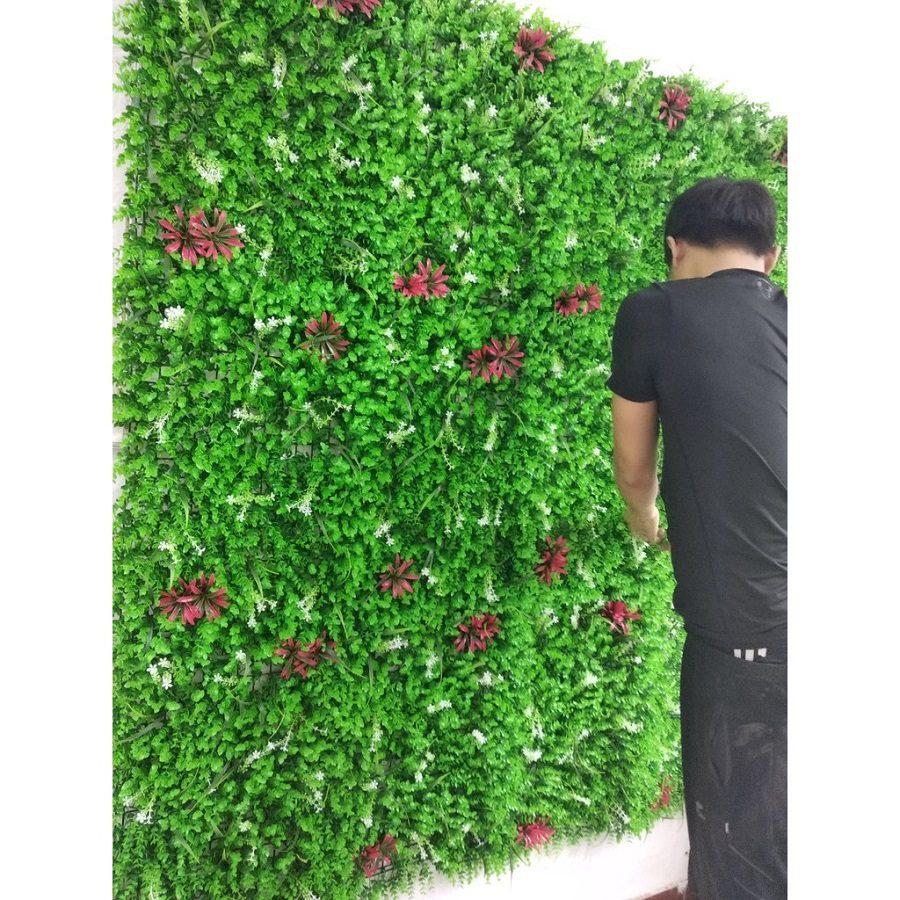 tường chuột hoa2 - Bảng Giá Thảm Cỏ Nhân Tạo Lót Sàn| Cỏ Sân Vườn Giá Sỉ Lẻ Từ Nhà Máy